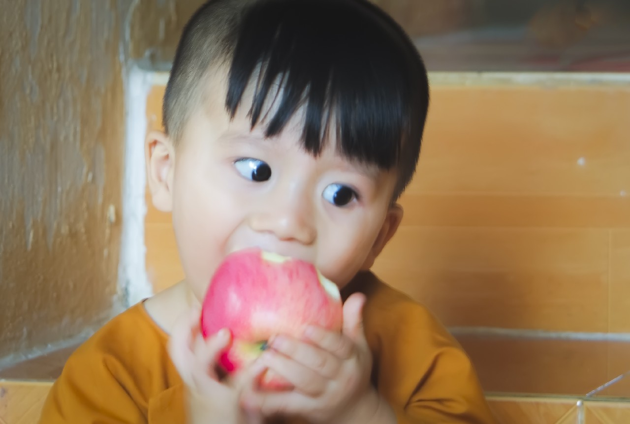 Apple -  A young Buddhist monk